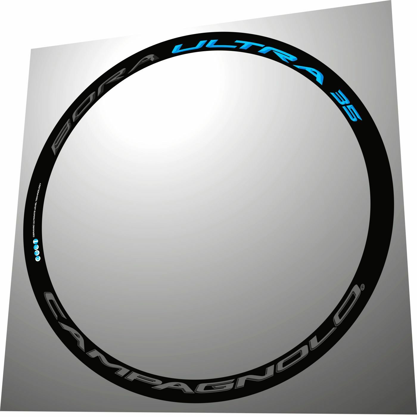 CAMPAGNOLO BORA ULTRA 35 3D DARK & SKY blueeE REPLACEMENT RIM DECAL SET FOR 2 RIMS