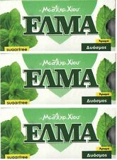 ELMA  SUGAR FREE SPERMINT -  GREEK CHIOS NATURAL MASTIC GUM (MASTIHA) 3 X12
