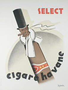 034-Cigare-Havane-034-By-D-Dujardin-French-Lithograph-Poster-on-Paper-32-1-2-034-x26-034
