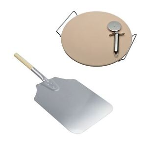 Aluminium-61cm-Pizza-Peel-Ceramic-Pizza-Stone-with-Pizza-Cutter