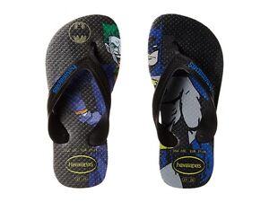 57dbfd9ff330 HAVAIANAS Boys Kids Max Heroes Sandal Flip Flops Batman ( 10 ) Black ...