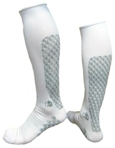 12 INCH Recovery COMPRESSION SOCKS CYCLING by Etxe Ondo White