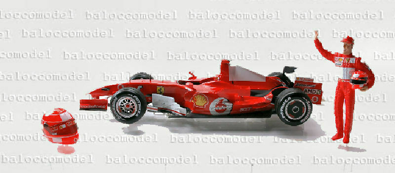 Hot Wheels j2996 Ferrari M. Schumacher Interl. 06 1 18