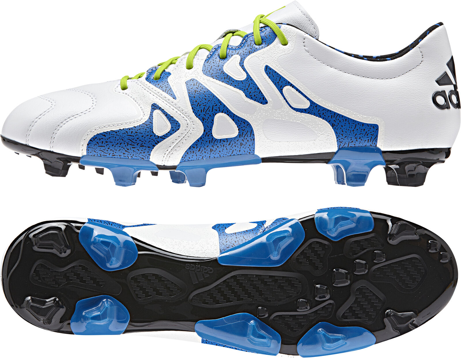 Adidas X 15.2 Firm Ground   AG Leather Leather Leather Mens Football Boots - White eb5923