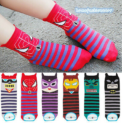 1Pair New High Quality Women's korea socks hero Print socks