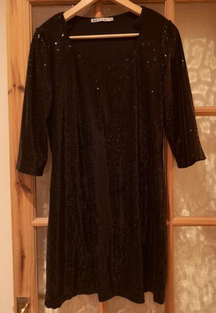 Kookai Black Sequin Dress Size 2 5033682539334  1fd5bc722