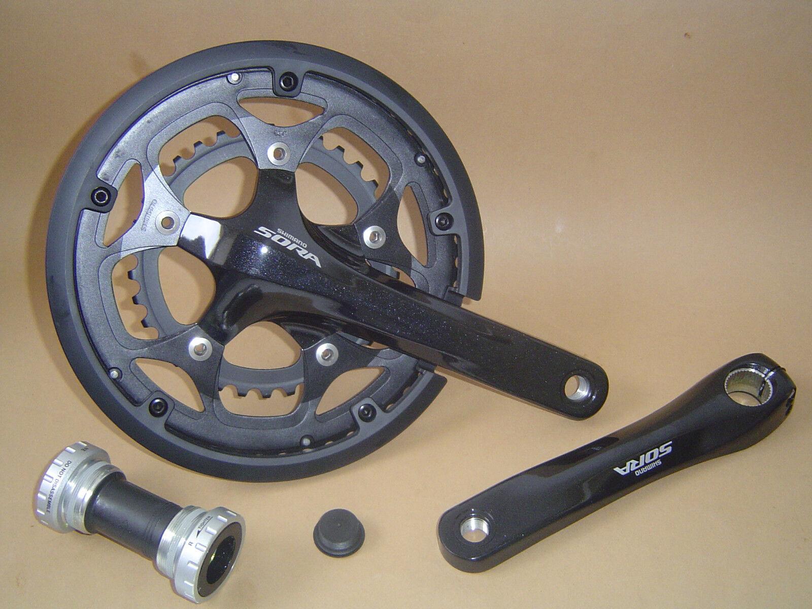 Shimano Sora FC-3550 Kurbel mit Kettenschutz 2x9-Fach 50 34 Zähne 170mm black