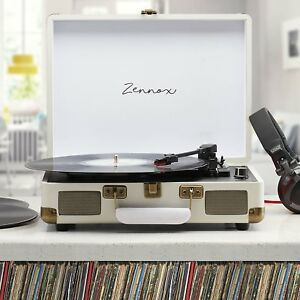 Zennox-Briefcase-Record-Player-Turntable-Portable-3-Speed-Vinyl-Suitcase-NEW