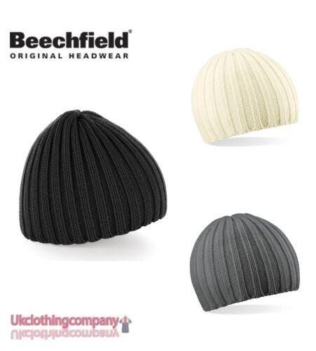 Beechfield Unisex Chunky Knit Beanie Winter Hat