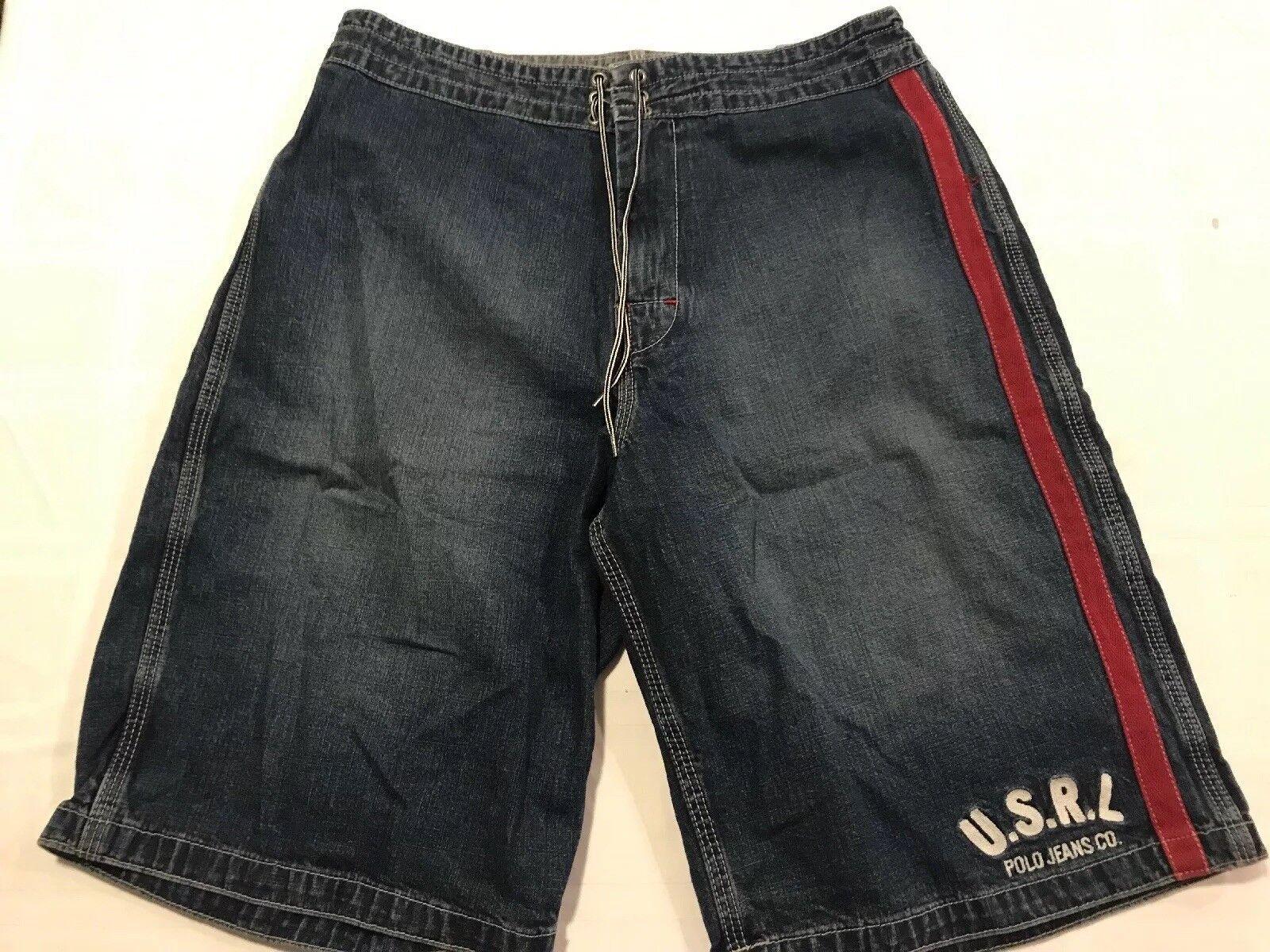 Ralph Lauren Polo Jeans Company Cotton Board Short Style Denim Shorts Mens M TS8