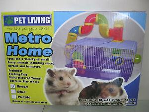 Marca-nuevo-metro-Casa-Mascota-Hamster-ratones-gerbos-jaula-38X22X26CM