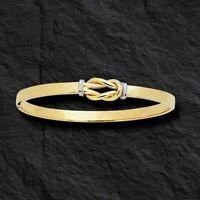 14k Gold love Knot Bangle Hinged Bracelet 7 7 Grams 5 Mm 3/16