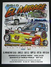 El Mirage Dry Lake Bed 2010 Poster SCTA Ford Mopar Chevrolet GMC Bonneville Salt