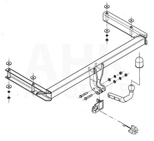 Für Audi A6 Avant 05-11 Kpl AHK Anhängerkupplung starr+ES 13p uni