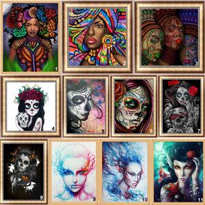 5D DIY Full Drill Diamond Painting Beauty Skull Cross Stitch Embroidery Kit BEST
