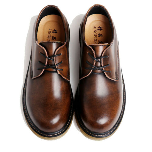 Men Oxford Genuine Leather Shoes Vintage Dress Formal Shoes Casual Work Shoes