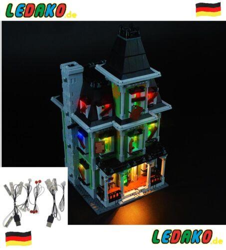 LED Beleuchtungsset für Lego® 10228 haunted house Geister Haus advanced edition!