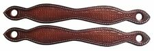 Showman Basketweave Tooled Leather SLOBBER Straps * as Set of Two