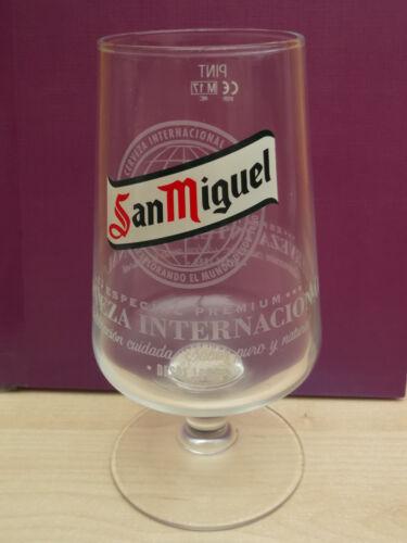 "2x Two San Miguel Cerveza 2017 /""Especial Premium/"" stemmed chalice pint glass"