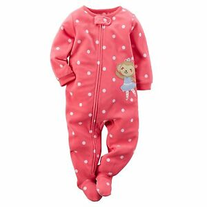 Carter-039-s-Girls-039-Footed-Fleece-Pajamas-Blanket-Sleeper-Mouse-Ballerina-3T