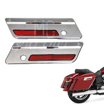 Saddlebag Latch Cover w// Reflector Combo for Harley Davidson Touring Hard Bags