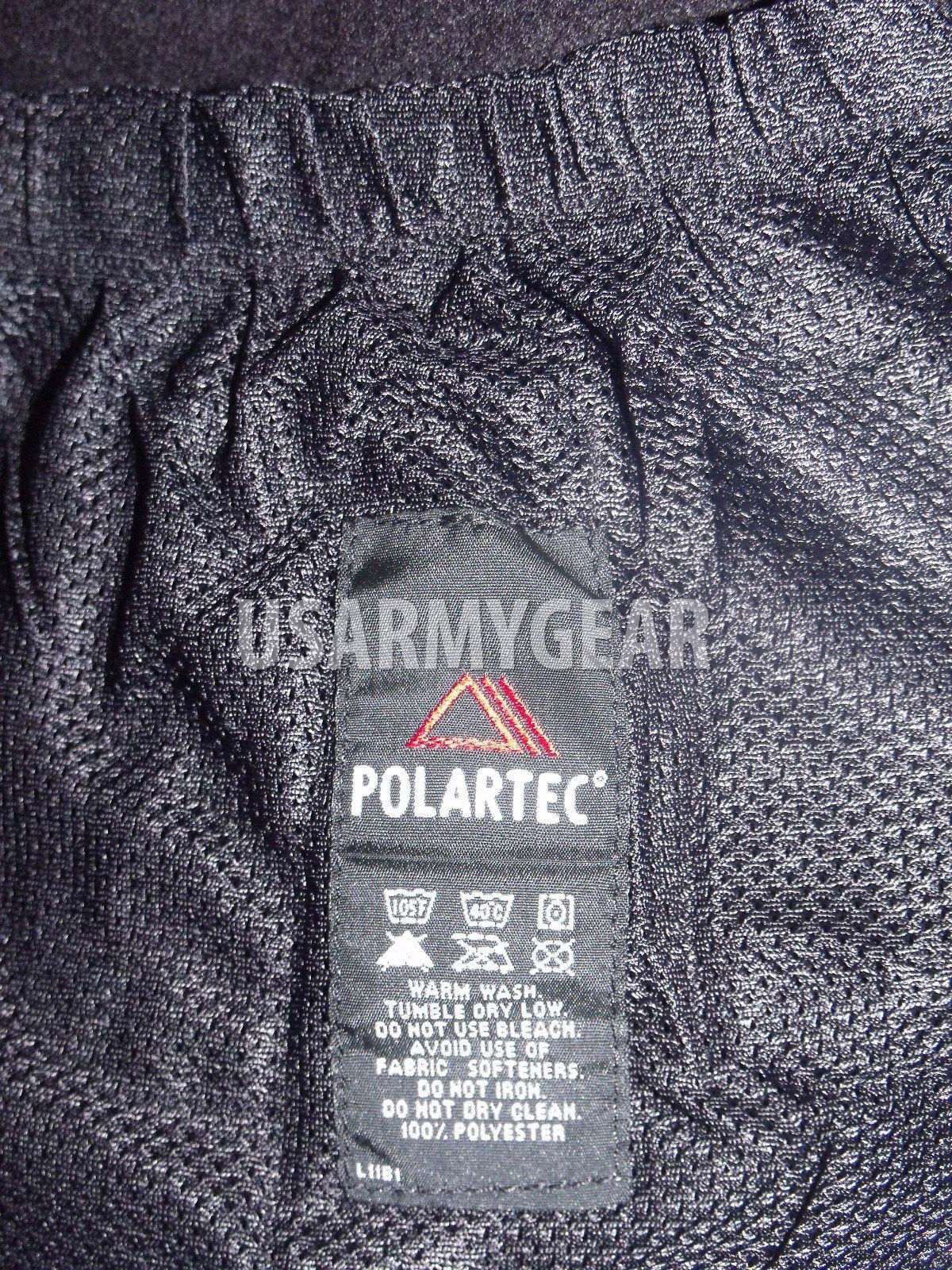 Made in USA PolarTec 300 Cold Weather Military Fleece Jacket Army Black Shirt L