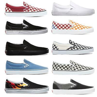 Vans Classic Slip On Herren Schuhe Slipper Sneaker Halbschuhe Skateschuhe Slipon | eBay