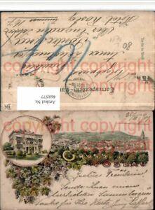 Sammeln & Seltenes Ansichtskarten Schneidig 468577,litho Gruß Aus Vöslau Totale Hotel Hallmayer Mehrbildkarte