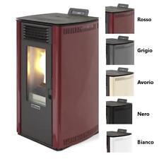 Stufa a pellet Fiorina 74 ad aria ventilata da 8,24 kw per riscaldamento casa
