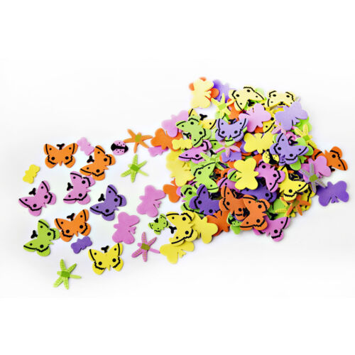 Foam Butterfly Stickers Bright Colours Self Adhesive Craft
