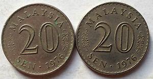 Parliament Series 20 sen coin 1976 2 pcs