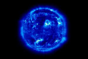 Framed Print - Blue Sun (Picture Galaxy Universe Solar ...
