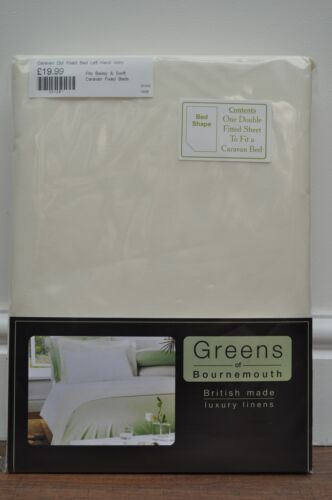 Bailey COTTON BLEND 200TC Luxury Percale Fitted Sheet  Caravan Fixed Double Bed