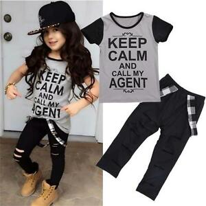 2PCS-Toddler-Kids-Baby-Girls-Outfit-T-shirt-Tops-Long-Pants-Trousers-Clothes-Set
