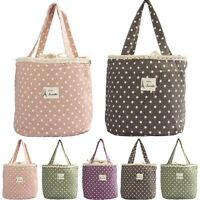 Portable Picnic Storage Bags Thermal Cooler Insulated Lunch Carry Tote Container