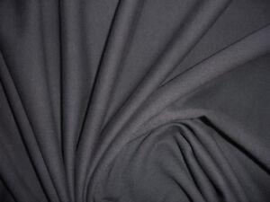 2-75m-Jersey-Sweatshirtstoff-schwarz-100-Baumwolle-MF6