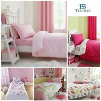 Catherine Lansfield Girls Childrens Kids Cotton Blend Single Bed Duvet Cover Set