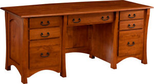 Details About Custom Made New Executive Desk Home Office Furniture Solid Wood Usa