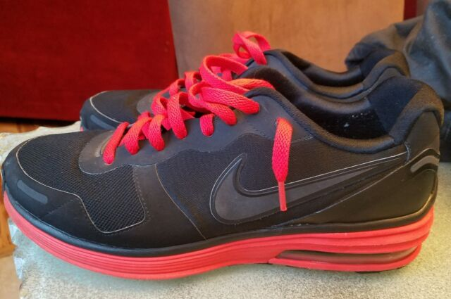 9efdc88ce067 NIKE LUNARMX + VORTEX 2010 MENS SZ 12 BLACK RED AIRMAX RUNNING SHOES
