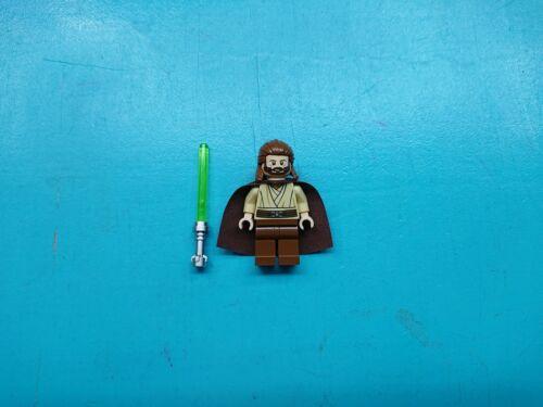 Lego Star Wars Minifigure Jedi Qui-Gon Jinn Breathing Apparatus Lightsaber 9499!