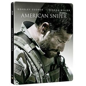 American Sniper 2 Disc Blu-ray DVD Target Limited Edition Steelbook
