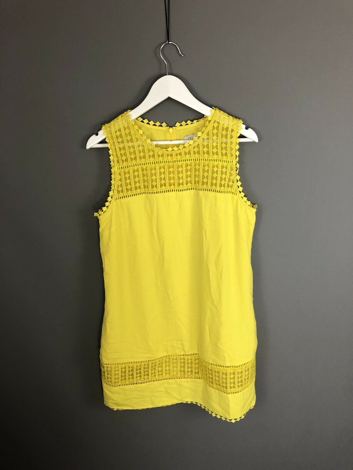 OASIS Party Dress - Size UK14 - Yellow - Great Condition - Women's