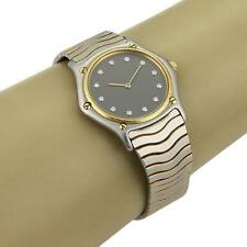 Ebel Diamond Dial 18k Yellow Gold Stainless Steel Men's Quartz Watch