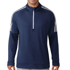 info for 80233 a9cef Adidas Golf 2018 Mens 3-Stripes 1 4 Zip Pullover Jumper Fleece Sweater