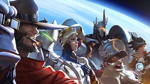 Poster 42x24 cm Overwatch Moira Videogame Videojuego Cartel Decor Impresion 01