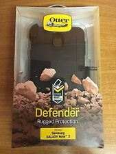 GENUINE OTTERBOX SAMSUNG GALAXY NOTE 3 DEFENDER SHOCKPROOF CASE COVER BLACK