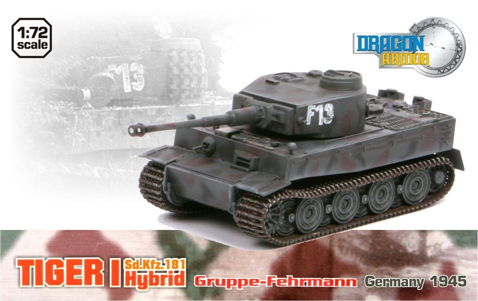 Dragon armor 1 72,     Extra Rare     German Tiger I Hybrid,  Art.  60290