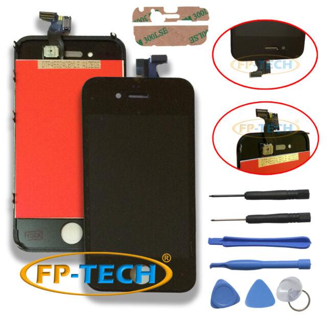 TOUCH SCREEN DISPLAY LCD RETINA SCHERMO E VETRO + FRAME PER APPLE IPHONE 4 NERO