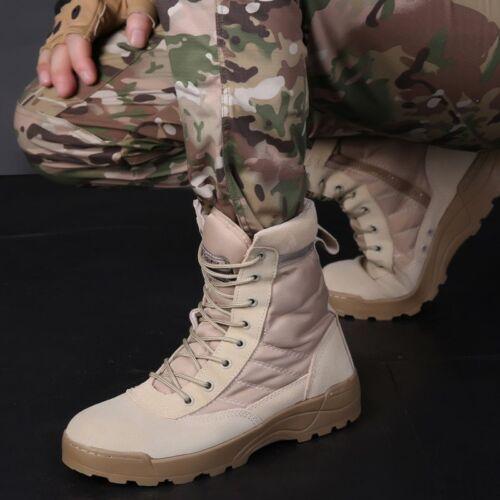 Botas De Trabajo Para Hombre Tactical Militares Malla De Cuero Transpirable SWAT