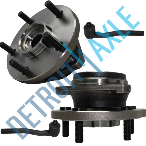 New 4pc 2 Outer Tie Rod Ends for Grand Cherokee Wheel Hub /& Bearing Assembly